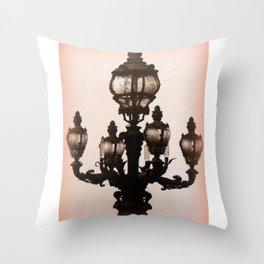 Parisian Streetlight Throw Pillow