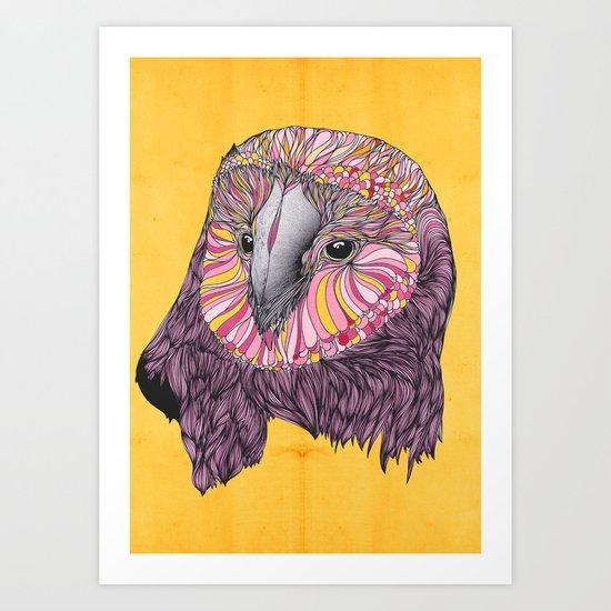 Lovely Owl (Feat. Bryan Gallardo) Art Print