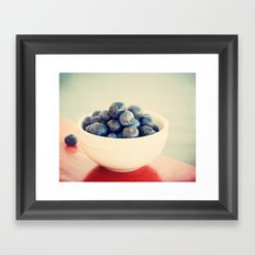 blueberry bush Framed Art Print