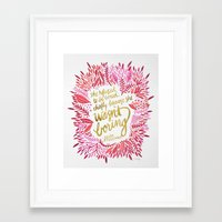 fitzgerald Framed Art Prints featuring Zelda Fitzgerald – Pink on White by Cat Coquillette