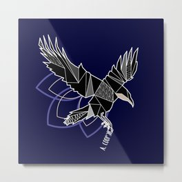 Geometric crow Metal Print