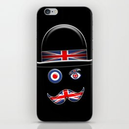 British Flag Face. iPhone Skin
