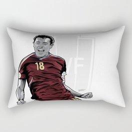 Juan Arango Vinotinto - Trinchera Creativa Rectangular Pillow