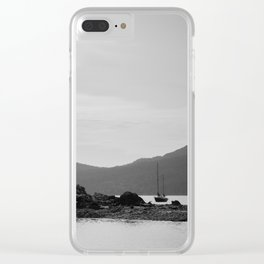 Resting at Orcas Clear iPhone Case