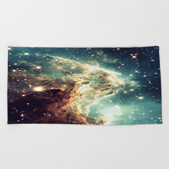 Monkey Head Nebula. Dreamy Beach Towel