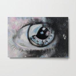 A galaxy Eye, Amazing eyes, our universe, original art by Luna Smith Art, LuArt Gallery Metal Print