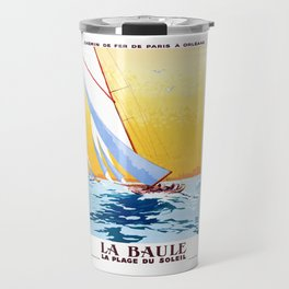france 1931 LA BAULE LA PLAGE DU SOLEIL.Charles Hallo Travel Mug