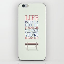 Lab No. 4 - Forrest Gump Movies Inspirational Quotes Poster iPhone Skin