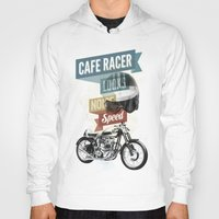 cafe Hoodies featuring cafe racer by Liviu Antonescu