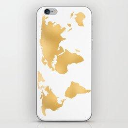 World Map Deep Gold Rush iPhone Skin