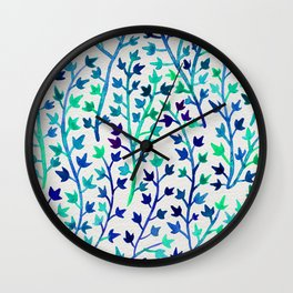 Turquoise Ivy Wall Clock