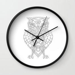 Hops and Barley Owl Celtic Knotwork Wall Clock