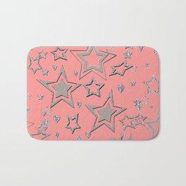 Holiday decor, shiny stars Bath Mat