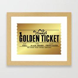Wonka's Golden Ticket Framed Art Print