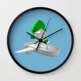 Tree House Boat Wall Clock