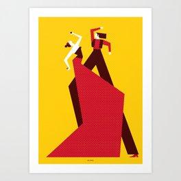 FLAMENCOS Art Print
