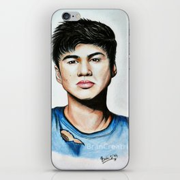 Calum from 5 Seconds of Summer colored artwork iPhone Skin