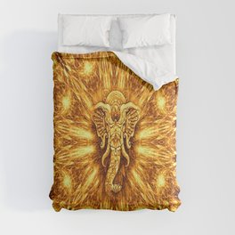 Golden Elephant Colorful Geometry Pattern Comforters