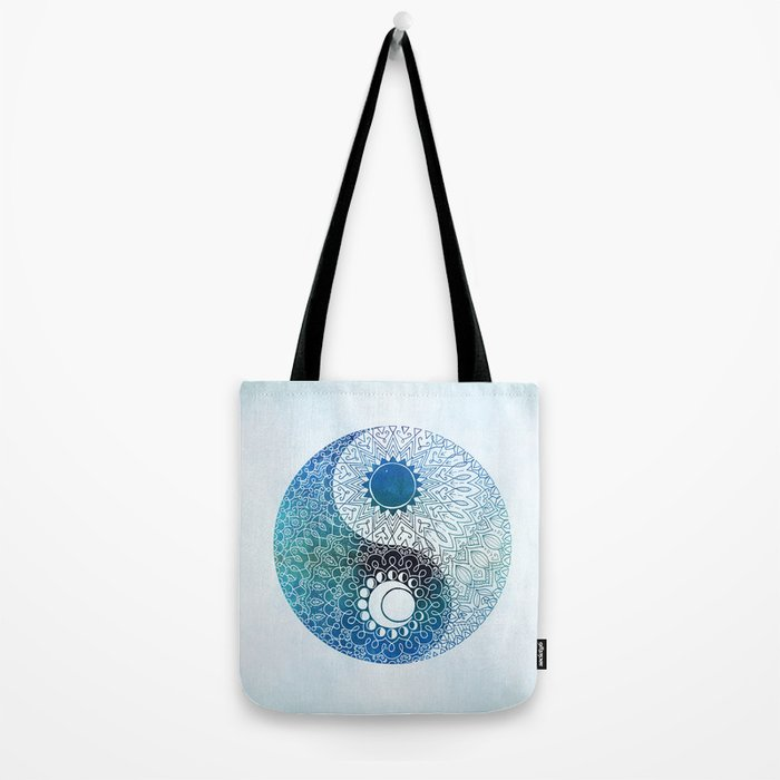 moon and sung (blue) Tote Bag