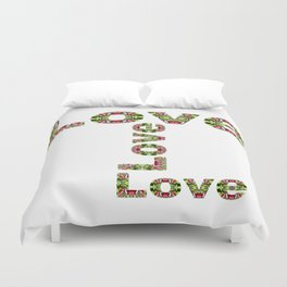 Typography Love Duvet Cover