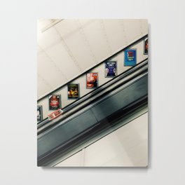 Going Down the Square Metal Print