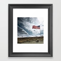 Stripes and stars Framed Art Print