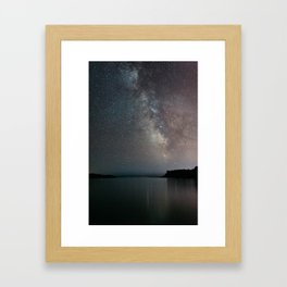The Milky Way above Black Beach Minnesota | Nature and Landscape Photography Framed Art Print