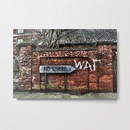 Ghost town Doel Belgium Metal Print
