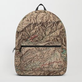 Vintage Great Smoky Mountains National Park Map (1963) Backpack