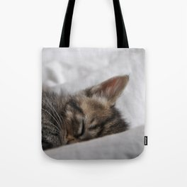 Small cat sleeping Tote Bag