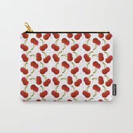 Sweet red cherries with pink stars Carry-All Pouch