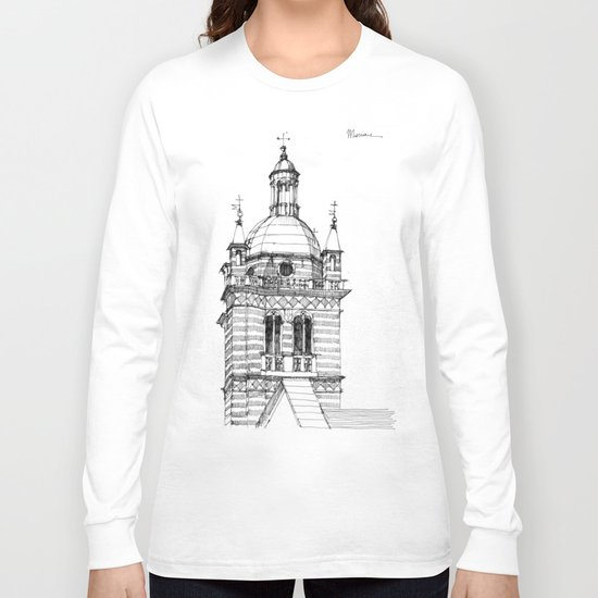 Campanile della  cattedrale di Genova Long Sleeve T-shirt