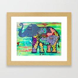 ENIGMA ELEPHANTE Framed Art Print