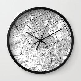 Riyadh Map White Wall Clock