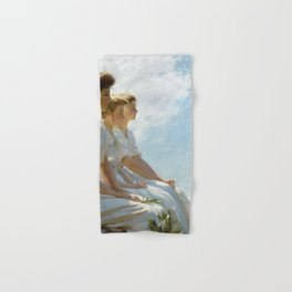 Charles Courtney Curran - On the Heights Hand & Bath Towel