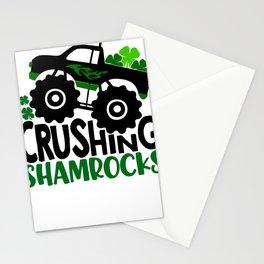 New St. Pats Crushing Shamrocks Monster Truck Stationery Cards