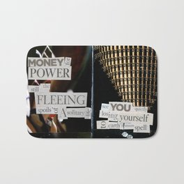Money for Power Print Bath Mat