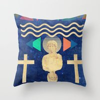 hercules Throw Pillows featuring HERCULES by Diego Ascoli