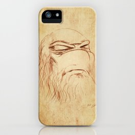 Leonardo's Self Portrait iPhone Case