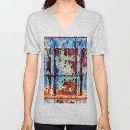 Colorful Rust Abstract II Unisex V-Neck