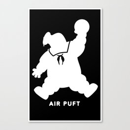 Air Puft: Stay Puft Marshmallow Man - Inverted Canvas Print
