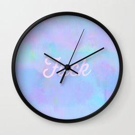 #6396 (pastel rainbow glitch [fuck script]) Wall Clock