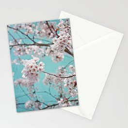 blossoms all over ~ color option teal Stationery Cards