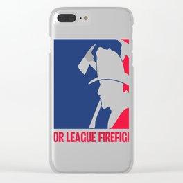 Major League Firefighter Clear iPhone Case