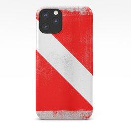 Diver Down Distressed Halftone Denim Flag iPhone Case