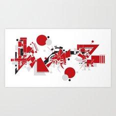Kaz Art Print