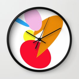 Shape your World - White Wall Clock
