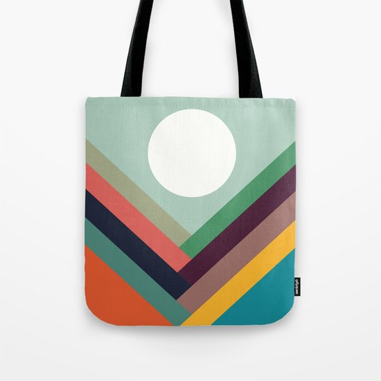 Rows of valleys Tote Bag