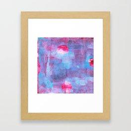 Crimson Clover, Abstract Monoprint Painting Framed Art Print