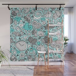 PLAYTIME_BLUE Wall Mural